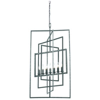 Crystorama 339-GY Capri 7 Light 24 inch Gray Chandelier Ceiling Light in Gray (GY)