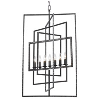 Capri 7 Light 24 inch Raw Steel Chandelier Ceiling Light