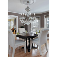 Crystorama 5196-EB-CL-MWP Legacy 6 Light 23 inch English Bronze Chandelier Ceiling Light in Hand Cut alternative photo thumbnail