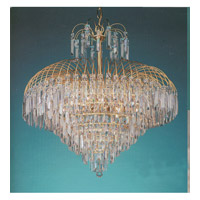 Crystorama Shower 12 Light Chandelier in Gold 3415-GD-CL-SAQ photo thumbnail