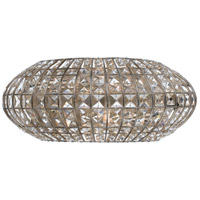 Crystorama Solstice 2 Light Wall Sconce in Antique Silver with Hand Cut Crystals 342-SA