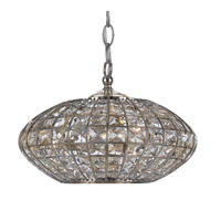 Crystorama Solstice 3 Light Mini Chandelier in Antique Silver 343-SA
