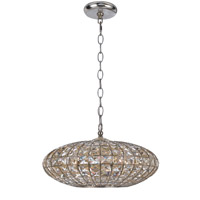 Crystorama Solstice 5 Light Chandelier in Antique Silver with Hand Cut Crystals 345-SA