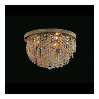 Crystorama Lighting Bohemian Crystal Basket 3 Light Flush Mount in Gold & Hand Cut Clear Crystal 349-14-GD-CL-MWP photo thumbnail