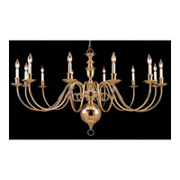 Crystorama Signature 12 Light Chandelier in Polished Brass 355-60-12