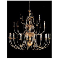 Crystorama 355-96-PB Signature 48 Light 96 inch Polished Brass Chandelier Ceiling Light