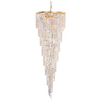 Crystorama Signature 15 Light Chandelier in Gold, Swarovski Spectra 3710-GD-CL-SAQ