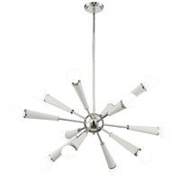Zodiac 12 Light 34 inch Polished Nickel Chandelier Ceiling Light