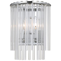 Crystorama 392-CH Bleecker 2 Light 9 inch Polished Chrome Wall Sconce Wall Light photo thumbnail