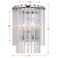 Crystorama 392-CH Bleecker 2 Light 9 inch Polished Chrome Wall Sconce Wall Light alternative photo thumbnail