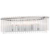 Crystorama 393-CH Bleecker 5 Light 24 inch Polished Chrome Vanity Light Wall Light photo thumbnail