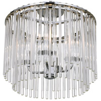 Bleecker 4 Light 16 inch Polished Chrome Flush Mount Ceiling Light