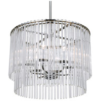 Bleecker 6 Light 22 inch Polished Chrome Chandelier Ceiling Light