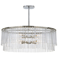Crystorama 398-CH Bleecker 8 Light 36 inch Polished Chrome Chandelier Ceiling Light