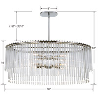 Crystorama 398-CH Bleecker 8 Light 36 inch Polished Chrome Chandelier Ceiling Light alternative photo thumbnail