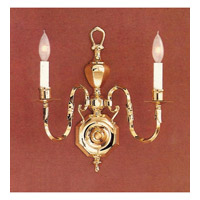Crystorama Signature 2 Light Wall Sconce in Polished Brass 402-PB