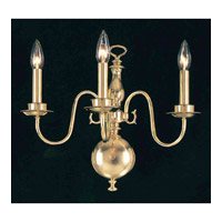 Crystorama Signature 3 Light Wall Sconce in Polished Brass 4083-PB