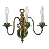 Crystorama 4083-PW Signature 3 Light 16 inch Pewter Wall Sconce Wall Light in Pewter (PW)