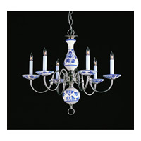 Crystorama Lighting Classic Ceramic 6 Light Chandelier in Pewter 4115-PW-D photo thumbnail