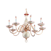 Crystorama Delf 8 Light Chandelier in Polished Brass 4170-PB-R