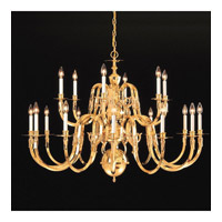 Crystorama Lighting Williamsburg 18 Light Chandelier in Polished Brass 418-42-18