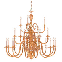 Signature 21 Light 48 inch Polished Brass Chandelier Ceiling Light