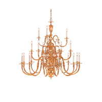 Crystorama Signature 21 Light Chandelier in Polished Brass, 60-in Width 419-60-21