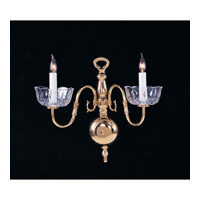 Crystorama Colonial 2 Light Wall Sconce in Polished Brass 4202-PB