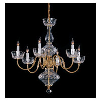 Crystorama Signature 6 Light Chandelier in Polished Brass 4206-PB