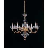 Crystorama Signature 8 Light Chandelier in Polished Brass 4208-PB