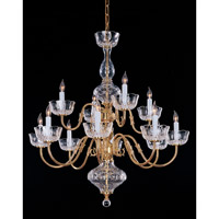 Crystorama Colonial 12 Light Chandelier in Polished Brass 4209-PB
