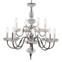 Crystorama 4209-PW Signature 12 Light 29 inch Pewter Chandelier Ceiling Light
