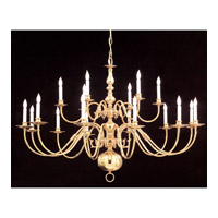 Crystorama Signature 18 Light Chandelier in Polished Brass 4218-PB