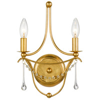 Crystorama 422-GA Metro 2 Light 10 inch Antique Gold Wall Mount Wall Light