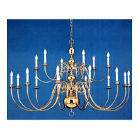 Crystorama Signature 24 Light Chandelier in Polished Brass 4224-PB