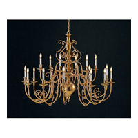 Crystorama Historical Brass 18 Light Chandelier in Polished Brass 4270-PB