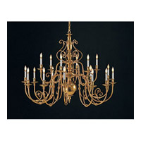 Crystorama Signature 18 Light Chandelier in Polished Brass 4275-PB