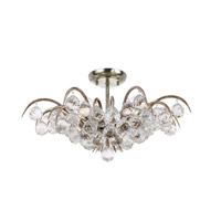 Crystorama Metro 5 Light Ceiling Mount in Antique Silver 430-SA-BALLS