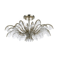 Crystorama Metro 5 Light Semi-Flush Mount in Antique Sliver 430-SA
