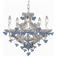 Signature 6 Light 18 inch Polished Chrome Chandelier Ceiling Light in Polished Chrome (CH), Blue