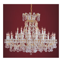 Crystorama Signature 37 Light Chandelier in Gold, Clear Crystal, Hand Cut 4308-GD-CL-MWP