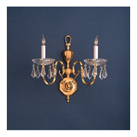 Crystorama Signature 2 Light Chandelier in Polished Brass 432-PB