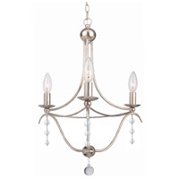 Crystorama 433-SA Metro 3 Light 16 inch Antique Silver Mini Chandelier Ceiling Light photo thumbnail