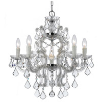 Crystorama Maria Theresa 6 Light Chandelier in Polished Chrome, Swarovski Elements 4335-CH-CL-S
