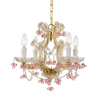Crystorama Signature 4 Light Vanity Light in Polished Brass 4344-PB-ROSA
