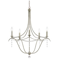 Metro 5 Light 28 inch Antique Silver Chandelier Ceiling Light in Antique Silver (SA)