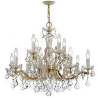 Crystorama Maria Theresa 12 Light Chandelier in Gold 4379-GD-CL-SAQ