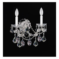 Crystorama Maria Theresa 2 Light Wall Sconce in Chrome 4402-CH-CL-MWP