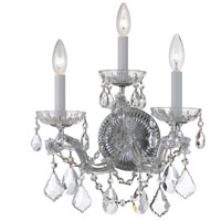 Crystorama Maria Theresa 3 Light Wall Sconce in Polished Chrome, Swarovski Elements 4403-CH-CL-S