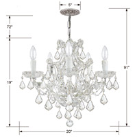 Crystorama 4405-CH-CL-MWP Maria Theresa 6 Light 20 inch Polished Chrome Mini Chandelier Ceiling Light in Polished Chrome (CH), Clear Hand Cut alternative photo thumbnail